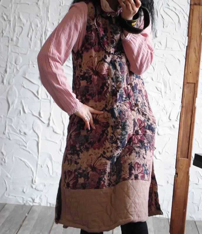 Gran Pankou Suelto Original Vintage Otoño Casual Vestido Más Tamaño Sin Mujeres Algodón Yoyikamomo De Nuevo Mangas qf0tx8
