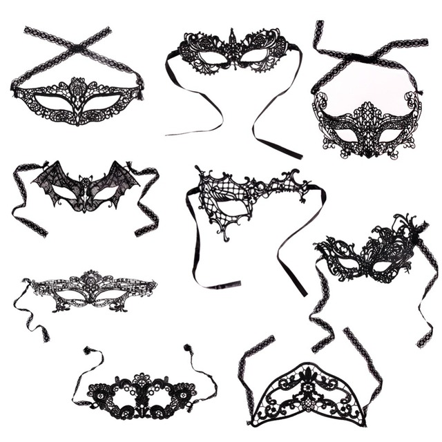 9 Styles Party Costume Lace Eye Masks Women Eyewear Masquerade Prop Dressup for Mask Evening Party 2