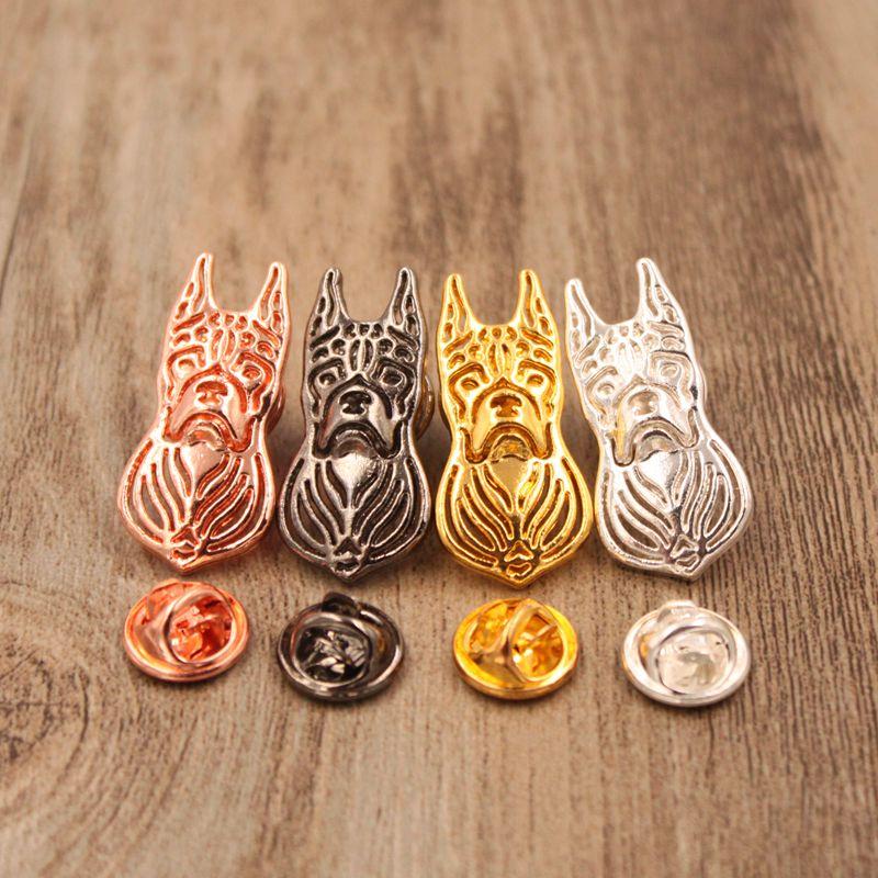 Mdogm 2018 Boxer Dog Animal Brooches And Pins Wholesale Suit Cute Metal Funny Small Father Collar Badges Gift For Male Men B080