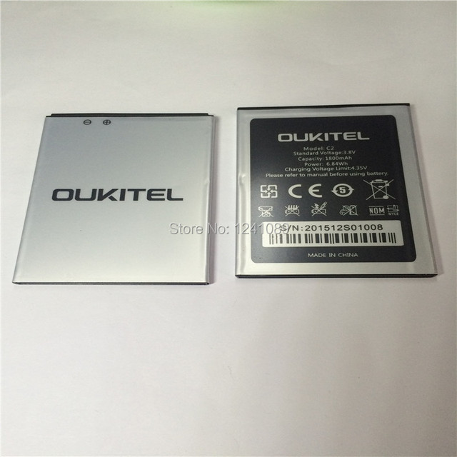100% original battery OUKITEL C2 battery 1800mAh  High capacit  Long standby time Mobile phone battery