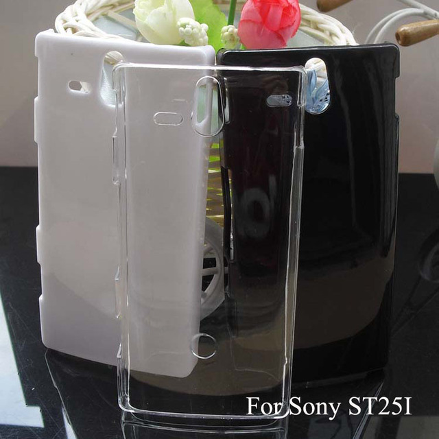ST25I Case Transparent Case for Sony Xperia U ST25i Crystal Cover DIY Material
