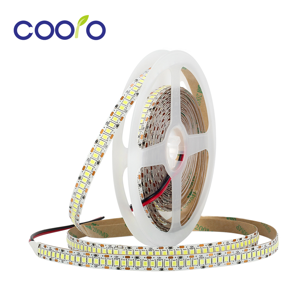 LED Strip 2835 240LEDs/m DC12V High Brightness Flexible LED Light Warm White / White /Natural White 5m/lot No Waterproof usb high brightness flexible white light led clip lamp silver white
