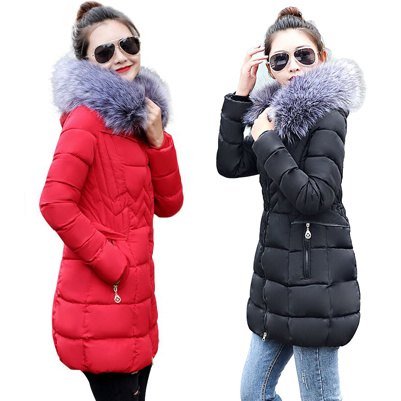cb054d10d52 Winter Jacket Women Plus size 2018 New Ukraine 5XL Womens Down Cotton  Thicker jackets Hooded Winter Coat Female Long Parkas