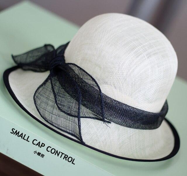 Высокое Качество Летом Sinamay Соломенные Шляпы Для Дворянства Женщин Белье Пляж Ведро Шапки Банкетный Бесплатная Доставка SCCDS-025