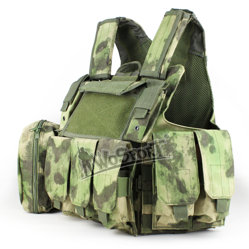 WoSporT Camouflage Hunting Vests 900D Oxford Cloth Tactical Combat Molle Airsoft Wargame Shooting Training Combat Uniform Vests