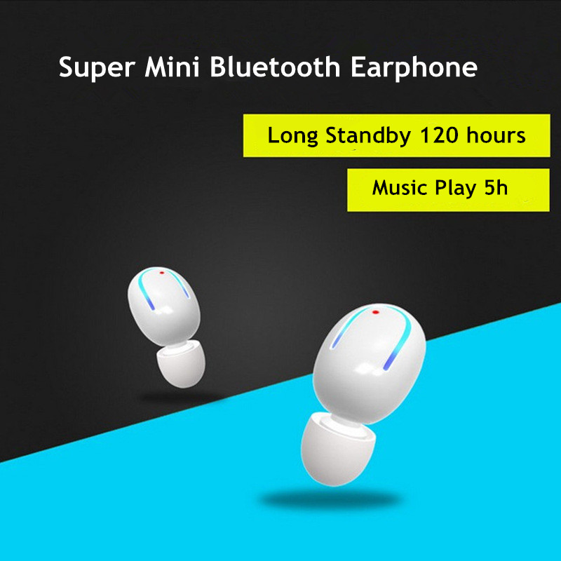 Super Mini Bluetooth Headset 4.1 Wireless Earphones for Phone Bluetooth Earphone Stereo in Ear Earbuds Headphones Car Headsets