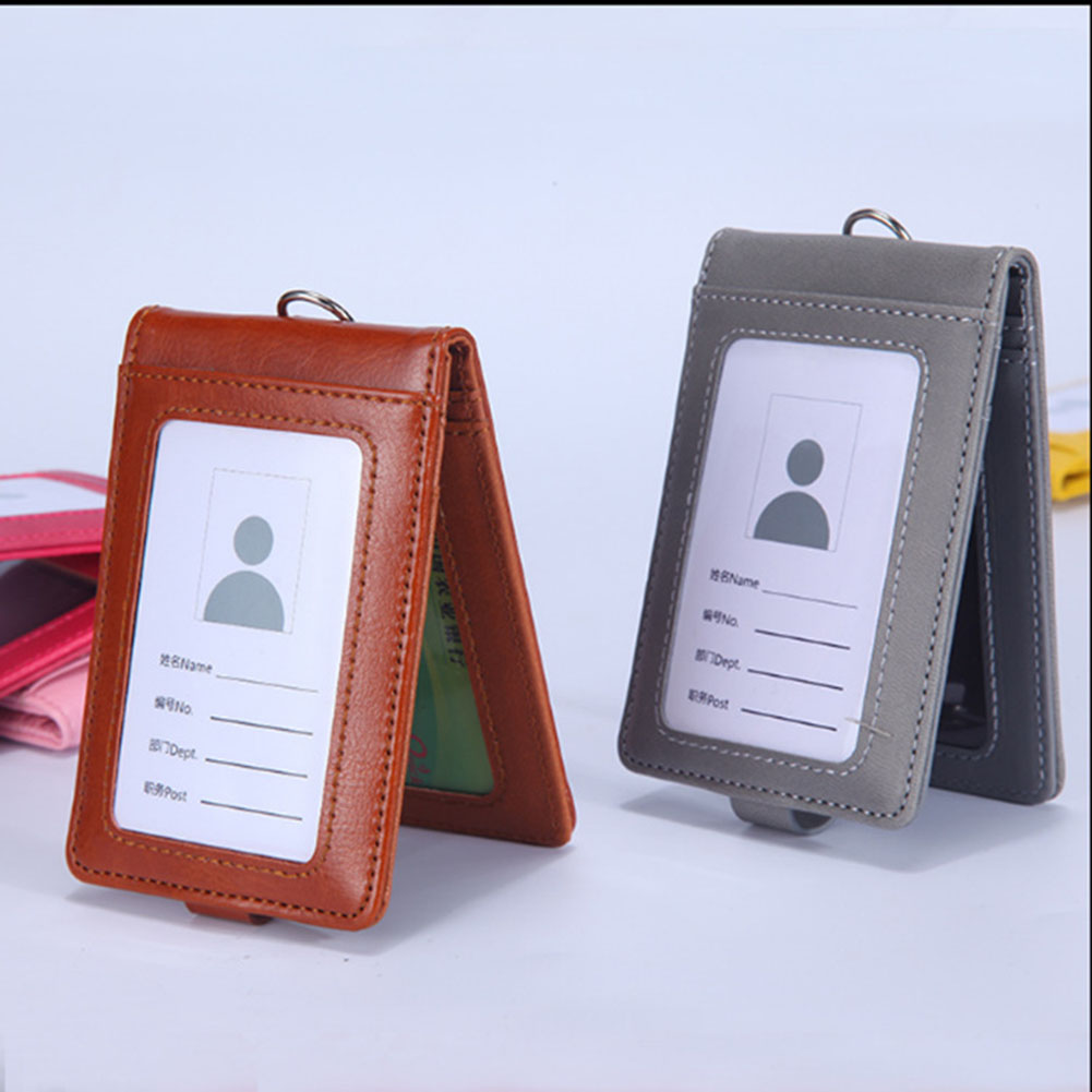 Hot Sale Card Holder Neck Strap With Lanyard Badge Holder Staff ID Card Bus ID Holders Stationary Office Card Holder Supplies