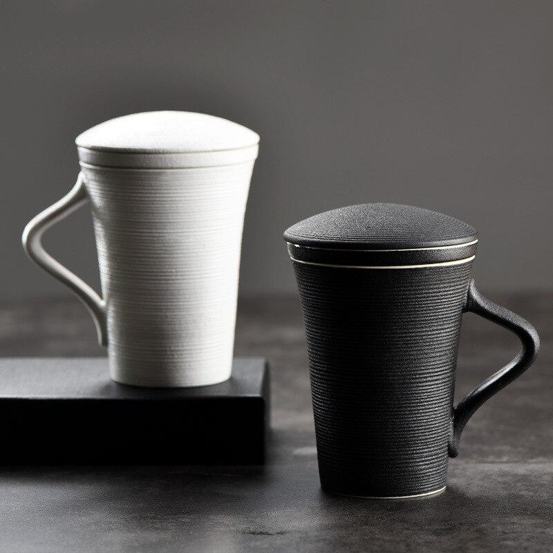 Tasse tasse avec couvercle tasse de thé de grande capacité sur mesure en céramique filtre tasse bureau bile bref boîte cadeau tasse d'eau