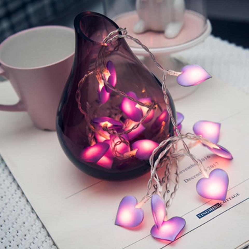 Xsky Pink LED Fairy Lights Love Heart 10/20LEDs Lantern Navidad String Lights Holiday Lighting Bedroom Home Luces Led Decoracion