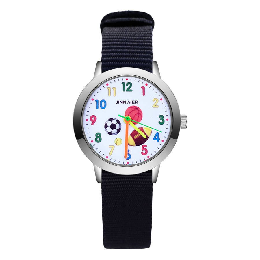 Children's Watches Amicable Fashion Cartoon Football Basketball Rugby Style Childrens Watches Kids Student Girls Boys Quartz Nylon Strap Wrist Watch Ja111 Supplement The Vital Energy And Nourish Yin