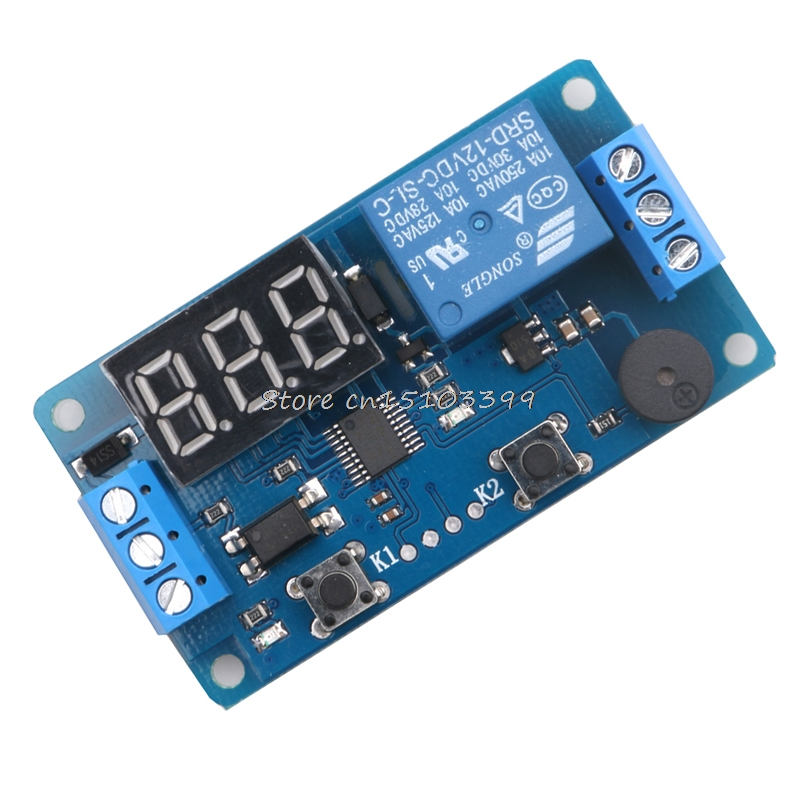 New DC 12V LED Display Digital Delay Timer Relay Control Switch Module PLC Automation#G205M# Best Quality 12v timing delay relay module cycle timer digital led dual display 0 999 hours