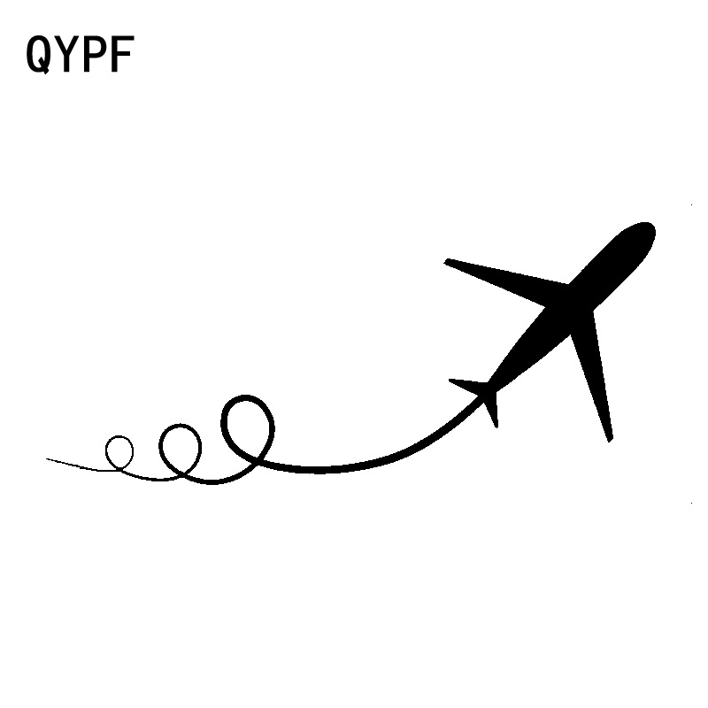 QYPF 17.4cm*6.5cm Interesting Exquisite Bending Roll Of Sentiment Plane Vinyl Car Sticker Decal New Style C18-0739