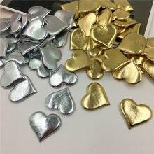 100 шт 3,5 см Бронзирующая губка в форме сердца конфетти, лепестки для свадьбы, свадьбы, вечерние украшения стола, домашний декор 62471