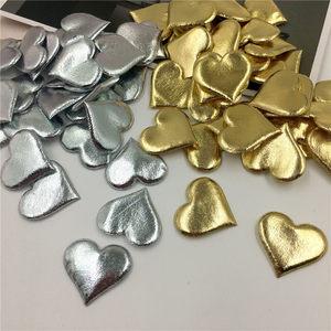 100Pcs 3.5cm Bronzing Sponge Heart Shaped Confetti Petals For Wedding Marriage Party Christmas Table Decoration Home Decor 62471