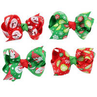 8pcs Toddlers Infant Baby Girl Christmas Ornaments Bowknot Hairpin Headdress