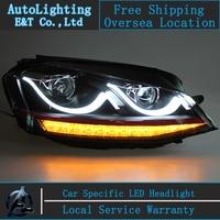 Car Styling VW Golf7 phares 2013-2014 Volks Wagen Golf 7 led phare flash clignotants drl H7 hid Bi-xénon Lentille à faible faisceau