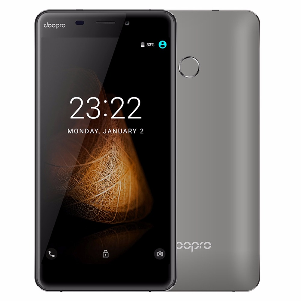 doopro C1 Pro 4G Fingerprint ID Smartphone MSM8909 Quad Core Android 6.0 5.3 inch Phone HD 2GB+16GB 8MP+2MP 4200mAh Mobile Phone