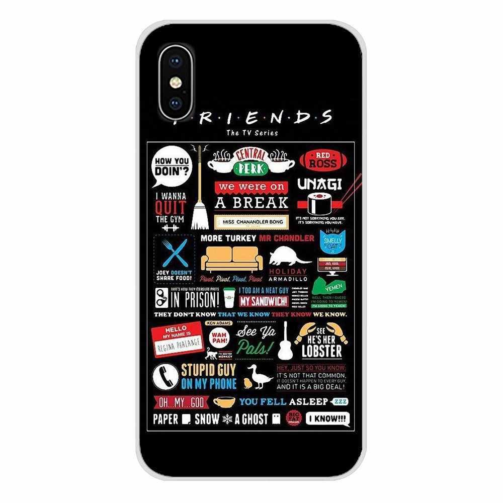 อุปกรณ์เสริมโทรศัพท์กรณีครอบคลุมสำหรับ Motorola Moto X4 E4 E5 G5 G5S G6 Z Z2 Z3 G3 G2 C Play plus กาแฟ friends tv show