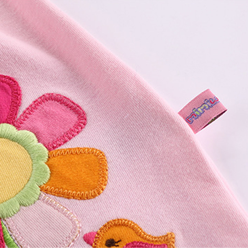 2018 High Quality Baby Girls Spring Clothing Set Toddlers Kids Autumn Cotton Trumpet Sleeves Cute Flower Top Shirt + Pants Set