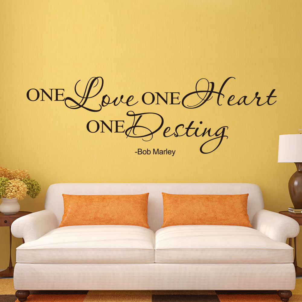Aliexpress.com : Buy English one love wall decoration stickers ...
