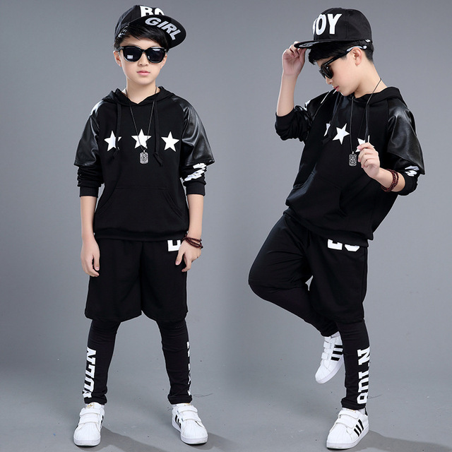 2a1555d763e8c 2018 new boys kid performance costume Children  s Jazz Dance clothes trend  Hip-hop clothing costume high quality