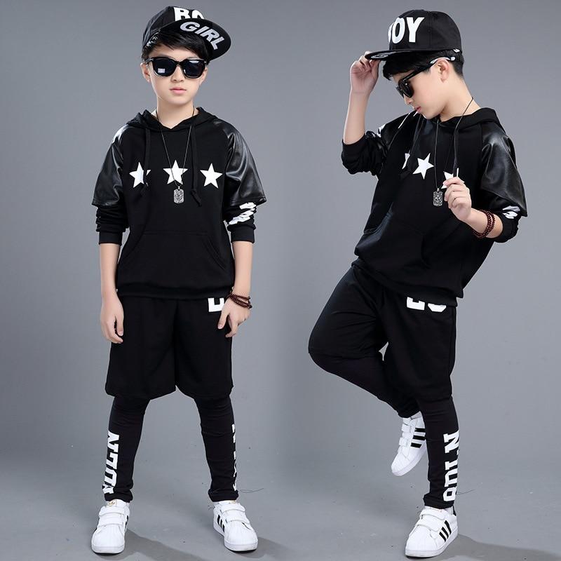 2018 nouveaux garçons kid performance costume enfants Jazz danse vêtements tendance hip-hop vêtements costume de haute qualité