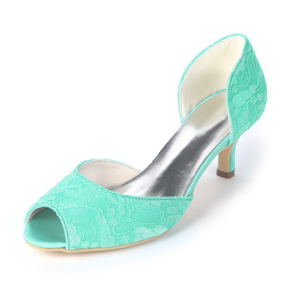 29cb3ca7af6 Creativesugar elegant lace dorsay lady low heel pumps fresh color jpg  1000x1000 Mint green low heels