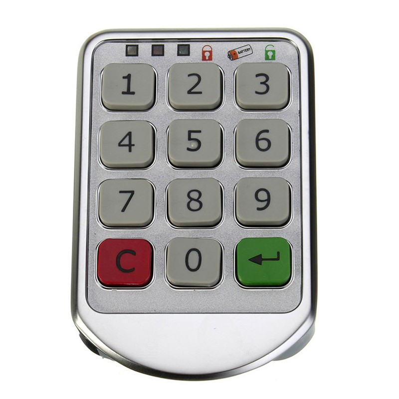 LHX Hardware Password Lock Digital Electronic Password Keypad Number Cabinet Code Locks Intelligent zc 109 4 bit number password lock safe cabinet lock metal shell unplugged mechanica password