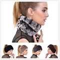 2016 novo inverno tricô de lã cachecol moda Rex Rabbit fur hat caps quentes