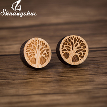 Buy Wooden Tree Of Life Earrings And Get Free Shipping On Aliexpresscom