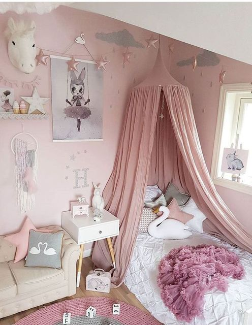 Princess Canopy Bed Curtain Kids Play House Tents Round Hung Dome Net Bed Children Room Canopy & Princess Canopy Bed Curtain Kids Play House Tents Round Hung Dome ...