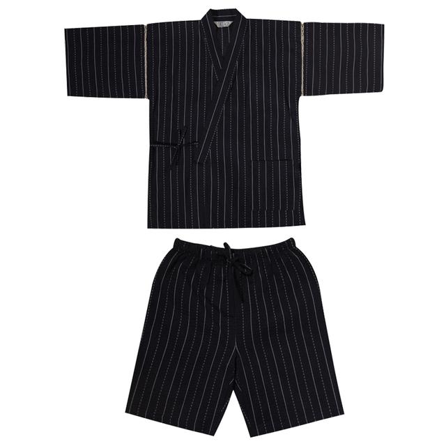 Summer 95% cotton Japan style Kimono pajamas sets for men Male short sleeve sleep lounge sleepwear Man Kimono Yukata A52511