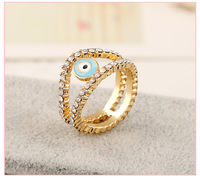 New fashion Ultra fine exquisite turkey eyes micro-inlaid ring rings manufacturers Direct Sales