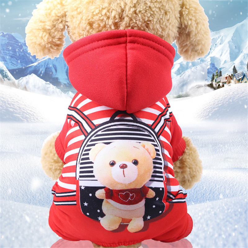 New Winter Pet Dog Clothes Soft Cotton Four legs Hoodies Outfit for Small Dogs Chihuahua Pug Sweater Clothing Puppy Coat Jacket in Dog Coats Jackets from Home Garden