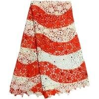 Высокое Качество Вышитые Гипюр Кружевной Ткани, Оптовая Бисера Украшения Африканский Шнур Кружевной Ткани Для Свадебное Платье