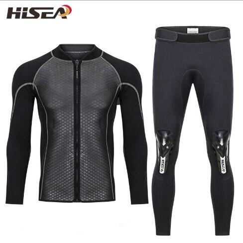 Hisea 2.5mm néoprène maillots de bain surf sous-marine pantalon de plongée pantalon combinaison de surf à voile pêche plongée en apnée haut élastique chaud
