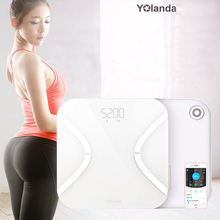 Body Index 15 Original Yolanda Mini Smart Weight Scale Body Fat SCALES Electronic Balance Mi Floor Scales Support Bluetooth App