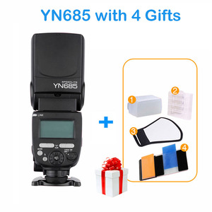 Image 2 - YONGNUO YN685 E TTL Flash Speedlite 1/8000s Radio Slave Modalità Flash di Luce YN685C YN685N per Canon Nikon YN622N YN560 TX RF603 II