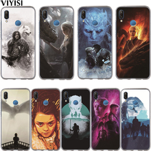 Game Thrones Phone Case Etui For Huawei Honor 10 Lite 9 8 7A 7C 7X 7 6A Coque Daenerys Dragon Jon Snow Tyrion Lannister Funda