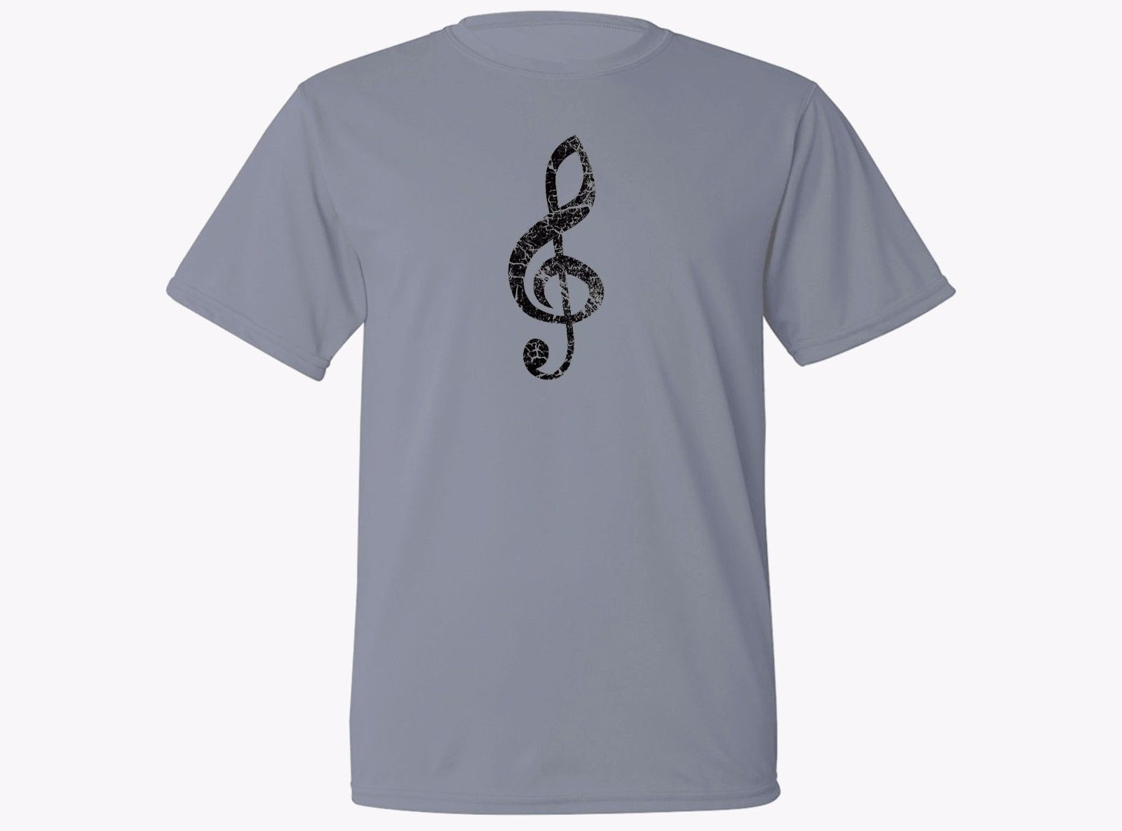 2019 New Fashion Music player gift treble clef moisture wicking fabric workout gray new t-shirt Tee shirt image