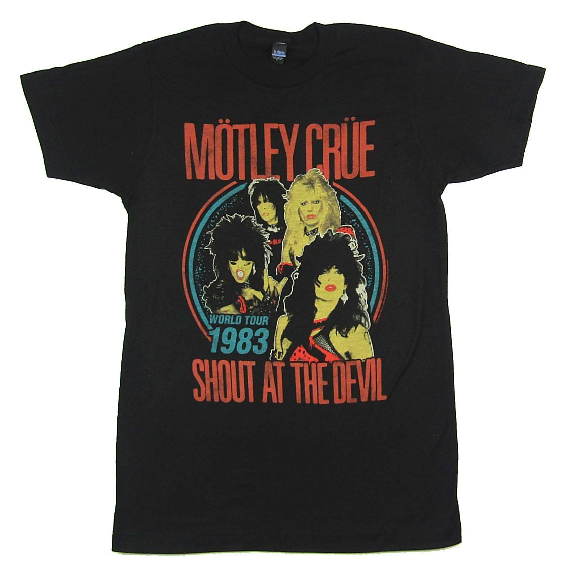 Motley Crue Shout At The Devil World Tour 1983   T     Shirt   New Official Reissue