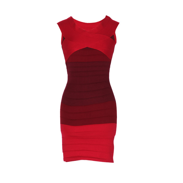 Off Shoulder Striped Bandage Dress