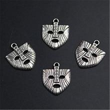 WKOUD 6pcs Antique Silver Nordic Mythology Rocky Mask Glamour Vintage Necklace Bracelet DIY Metal Jewelry Alloy Pendants A1236