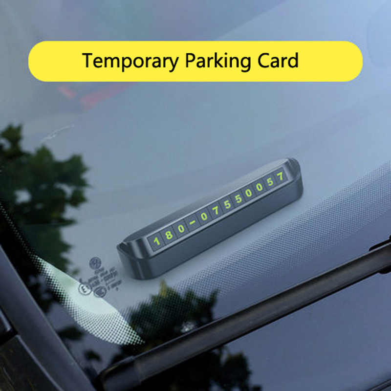 Temporary Parking Card Telephone Number Card Plate For Lada granta vesta kalina priora niva xray largus Opel Astra H G J zafira