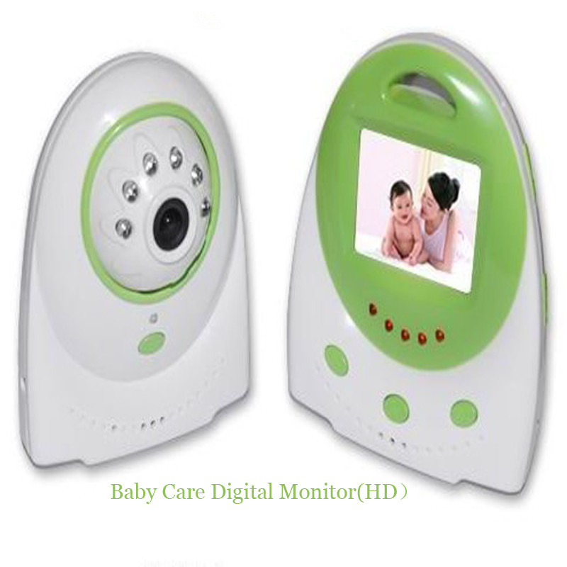Verde bebe monitores infantiles Cuidado 2.4 GHz Wireles Radios Babysitter Digital Video visión nocturna música temperatura Radios