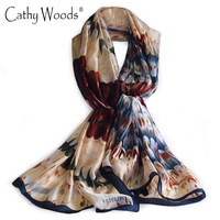 Luxury Brand New Scarf Summer Women 100 Pure Silk Scarf Silkworm Silk Scarves Printed Feather Beach