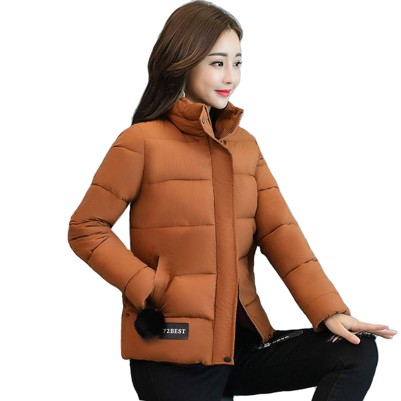 New Arrival 2019 Winter   Jacket   Women Stand Collar Padded Short Outwear   Basic     Jacket   Autumn Chaqueta Mujer Invierno