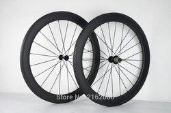 New arrival 700C 60mm felgi rurowe rower szosowy matt 3K całości z włókna węglowego rowerów węgla koła aero szprychy szaszłyki darmowa wysyłka