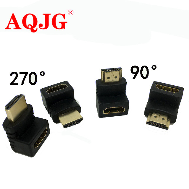 HDMI Male To HDMI Female Cable Adaptor Converter Extender 270/90 Degree Angle For 1080P HDTV For Hdmi Adapter AQJG
