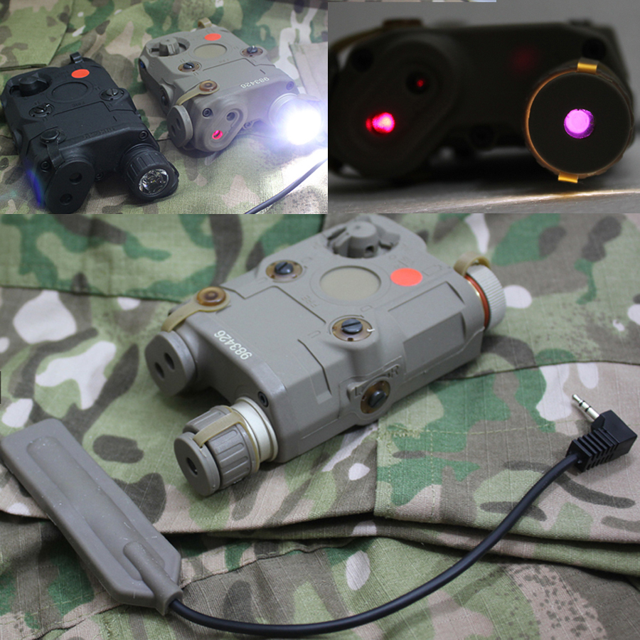 AN/PEQ-15 LED White LED Flashlight+IR+Red Laser Aiming Pointer for 20mm picatinny rail mounts Tactical hunting tb fma an peq 15 upgrade version led white light